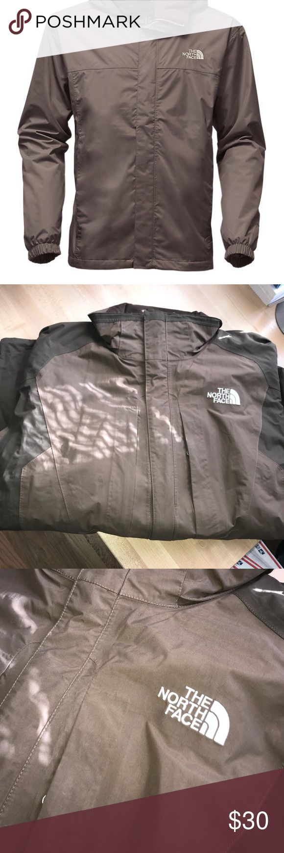 North Face Jacket Brown XL Nice looking jacket  One Hole pictured  Not hooded  and missing the inner lining  Selling for cheap North Face Jackets & Coats Performance Jackets