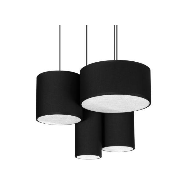 Żyrandol LAMPA wisząca TURNI DI GIOCO 8090404 Spotlight OPRAWA abażurowa kaskada czarna