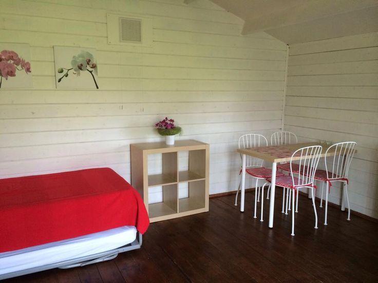 interieur van de kampeerhut/trekkershut