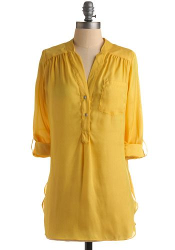 Pam Breeze-ly Tunic in Yellow, #ModCloth