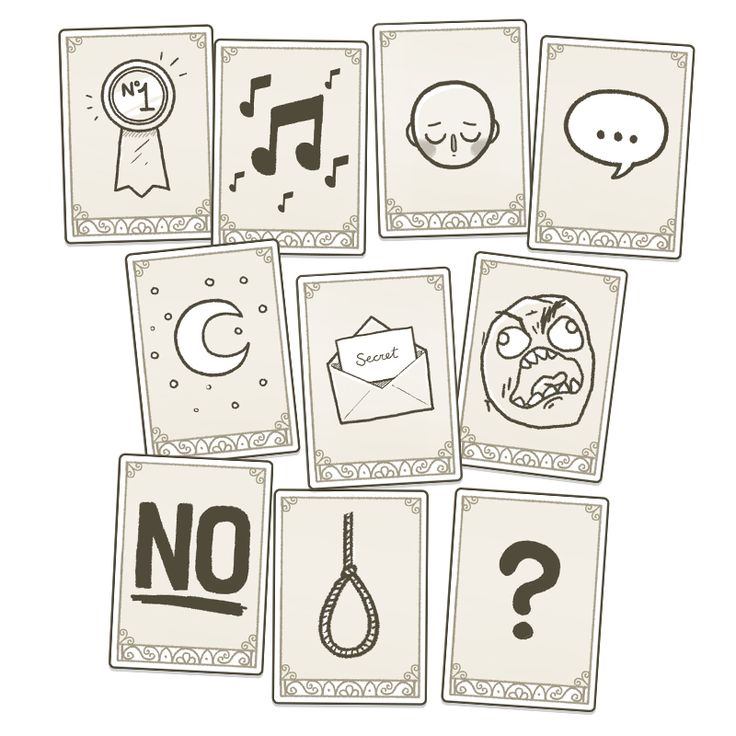 symbol cards for museum of parallel art game design - Game Design Ideas