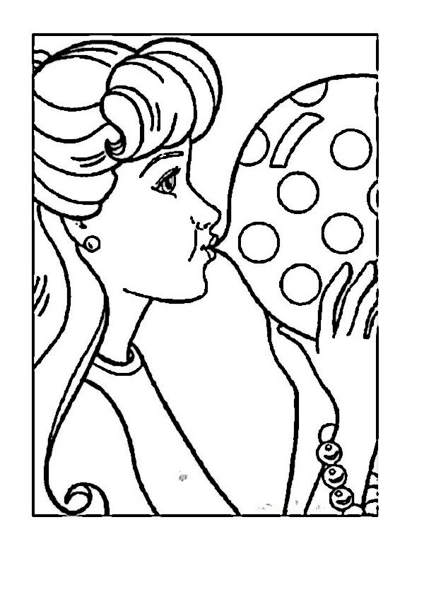 152 best Barbie Coloring Pages images on Pinterest | Barbie coloring ...