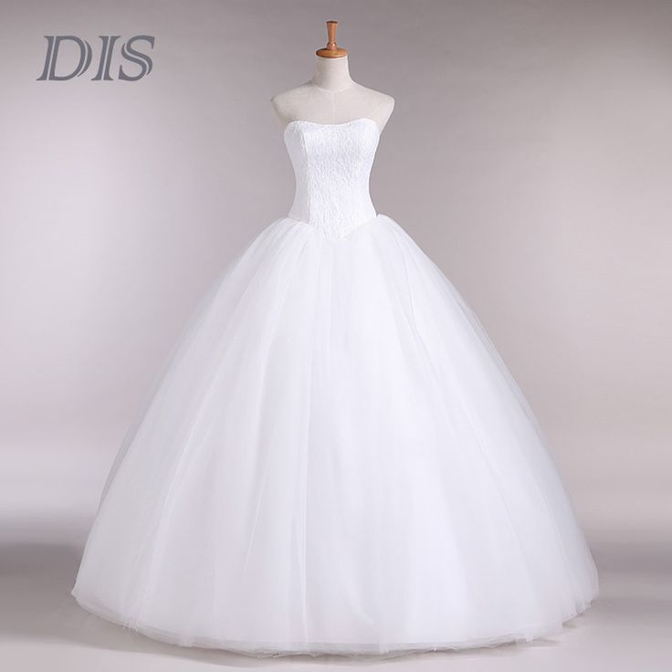 Custom Made Wedding Dresses 2015 Cheap Celebrity Strapless White Tulle Bridal Ball Gown Organza Lace bridal dresses D-14018
