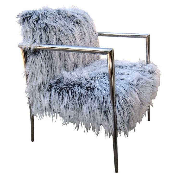 A faux fur covered armchair c. 1980's. This may be purchased on ecofirstart.com