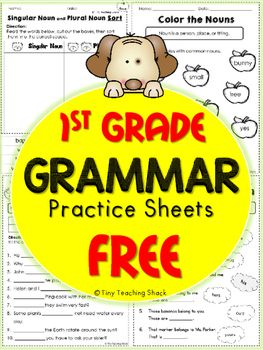 1st Grade Grammar Practice Sheets Freebie (Common Core or Not)
