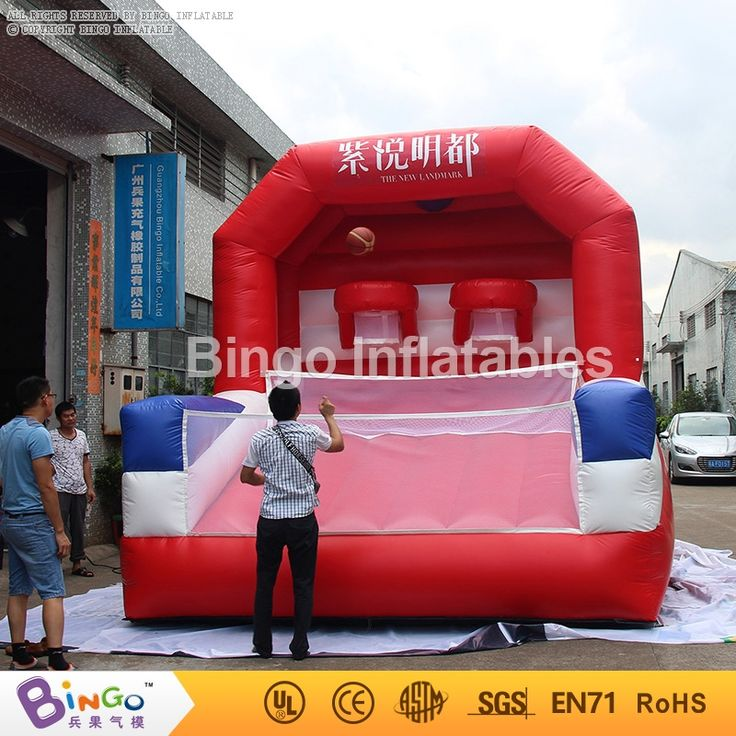1680.00$  Watch here - http://ali8os.worldwells.pw/go.php?t=32753386003 - inflatable basketball shooting game for children or adults sport game/basketball field 4X4m BG-G0435 Toy Sports 1680.00$