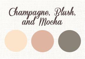 Champagne, Blush, and Mocha for a Modern Winter Wedding