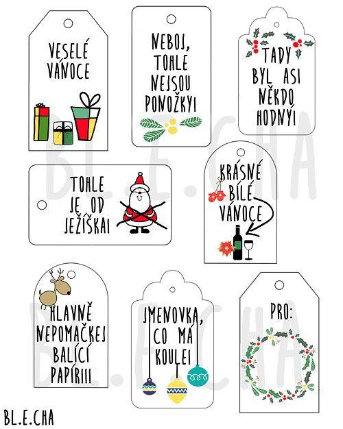 Vánoční visačky k tisku / Zboží prodejce Bl.e.cha | Fler.cz