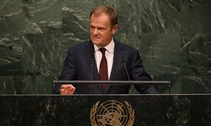 Summary: Donald Tusk, president of the European Union, has defended European Union members over allegations that Europe has mismanaged the refugee crisis.
