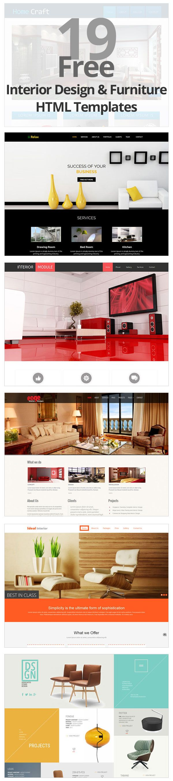 19 Free Interior Design and Furniture Website Templates