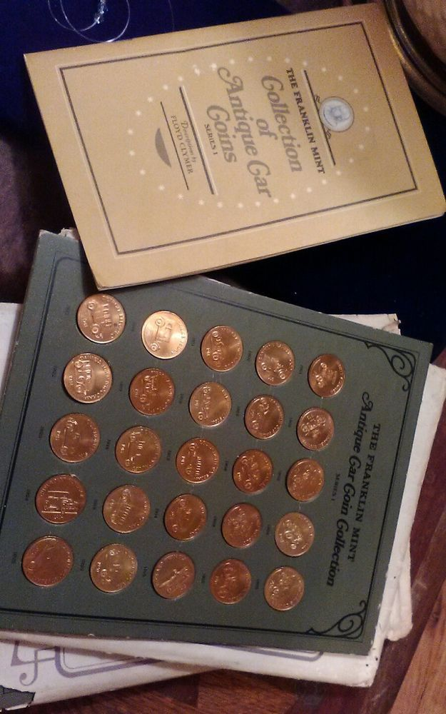 Vintage The Franklin Mint Antique Car Coin Collection 1 Series 1968 25 Coins Franklin Mint Antiques Coin Collecting