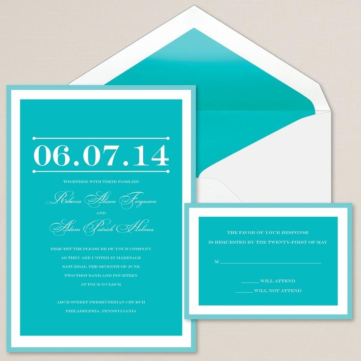 Oh Happy Day Wedding Invitation | Tropical blue, aqua | #exclusivelyweddings