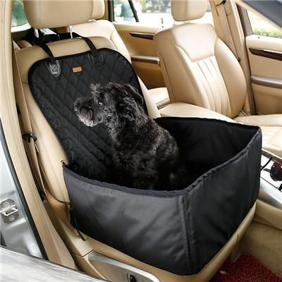 Doglemi 2 in 1 Deluxe Pet Seat Cover Waterproof Dog Car Front Seat Crate Cover