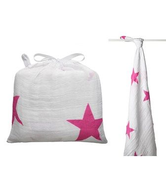 SWADDLE MUSSOLA TWINKLE PINK - ADEN+ANAIS - Kiddy Kabane