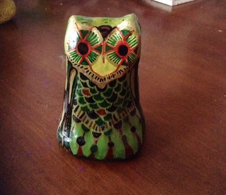 Handmade owl figurine