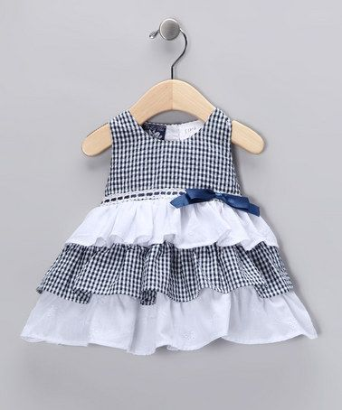 Take a look at this Navy Ruffle Dress - Infant by So La Vita on #zulily today!