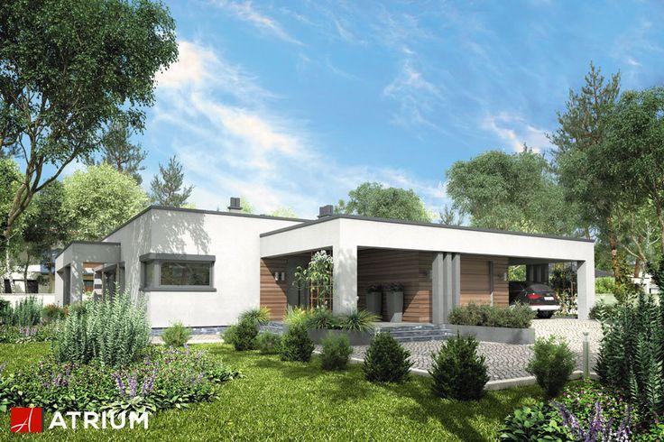 SARDYNIA VI – zgrabny, parterowy dom utrzymany w modernistycznej stylistyce, zaskakujący odważną bryłą z płaskim dachem i nowoczesnymi podcieniami. Po lewej stronie od wejścia znajdziemy komfortową przestrzeń dzienną z bezpośrednim wyjściem na taras.
