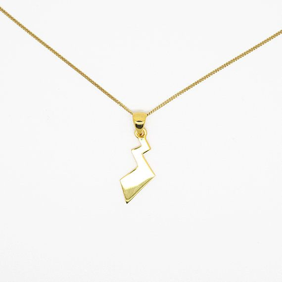 The 25 best pikachu tail ideas on pinterest pikachu game pikachu tail necklace pokemon pendant sterling silver plated with 24k gold pronofoot35fo Image collections