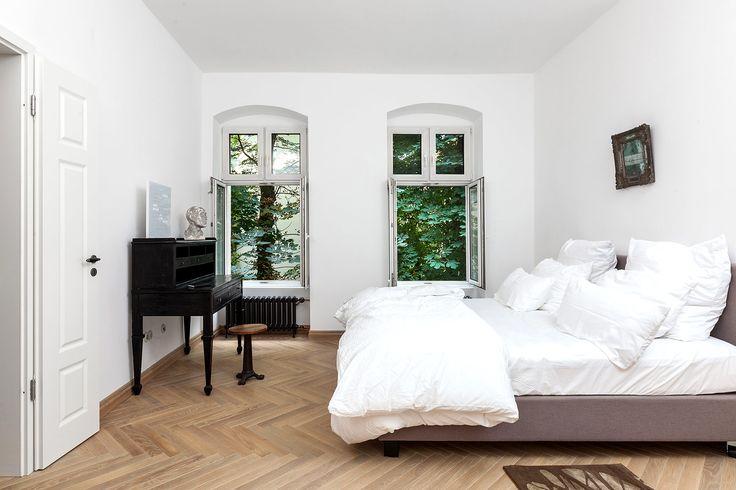 El dormitorio es el último rincón en la casa pero el más relajado.