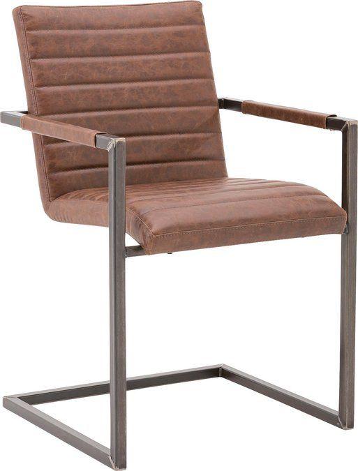 Sabine: een stoere eetkamerstoel voor een ongekend scherpe prijs. Deze stoel biedt jouw eetkamer een stoere mix van oud- en modern design. De stoel is uitgevoerd in bruin-kleurig bycasta en bevat een frame van oud gemaakt metaal.