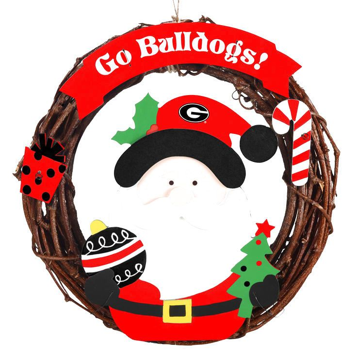 "Georgia Bulldogs 13"" Wreath - $15.99"
