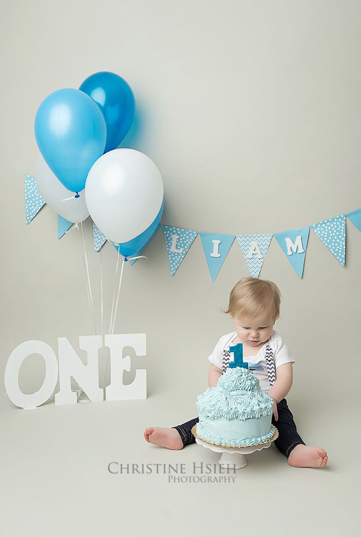 boy blue and white cake smash ~ Christine Hsieh Photography South Central PA and Northern Maryland Newborn And Baby Photographer: Happiest Baby On The Block   One Year Old   Cake Smash  York, PA