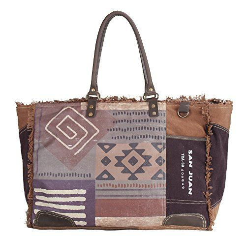 Sunsa Damen Vintage Tasche Shopper Badetasche Schultertasche Handtasche Aus  Canvas Und Leder 51907