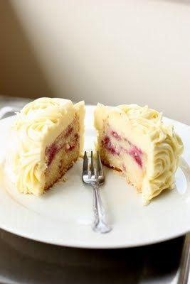 Lemon Raspberry Cake w Cream Cheese Frosting