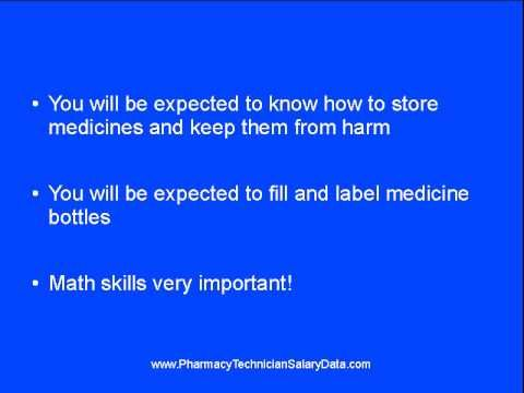 Pharmacy Tech Duties: What Qualifications You Need - YouTube