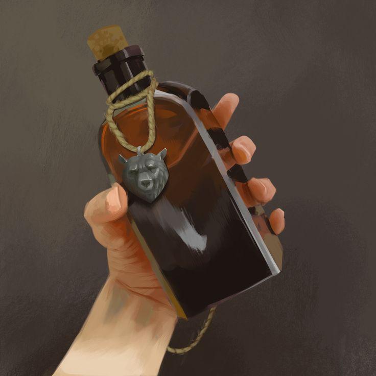 Dwarven mead., Maciej Rudnicki on ArtStation at https://www.artstation.com/artwork/lZKok