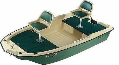 NEW Sun Dolphin Pro 120 Two Seat 11'3 Fishing Boat w/ Trolling Motor Mount