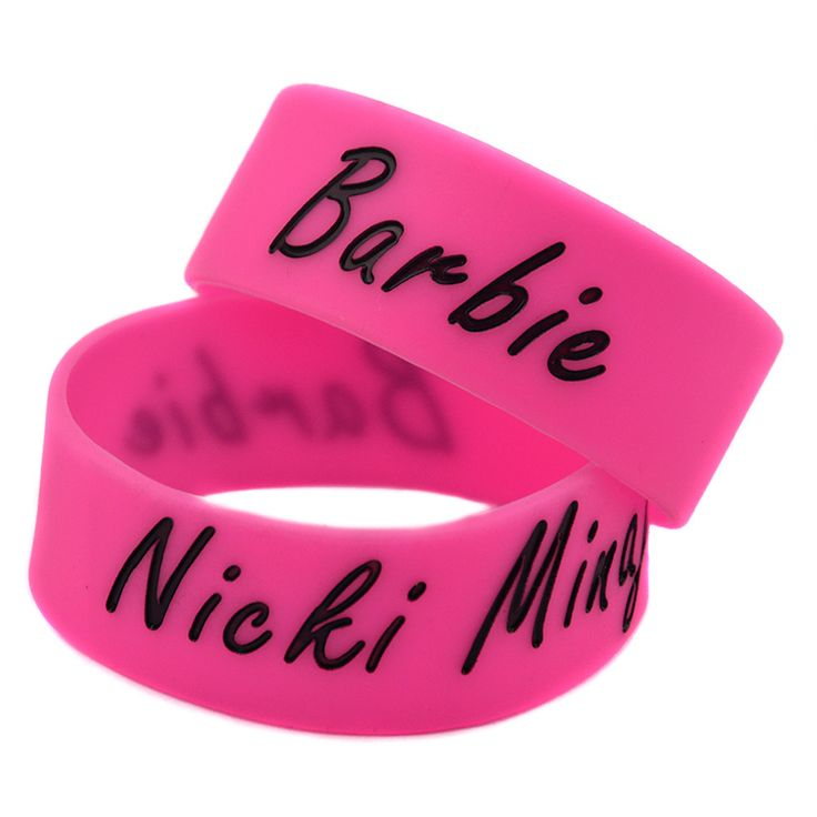 25PCS/Lot Barbie Nicki Minaj Silicone Bracelet, Perfect To Used In Give Away Gift For Music Fans