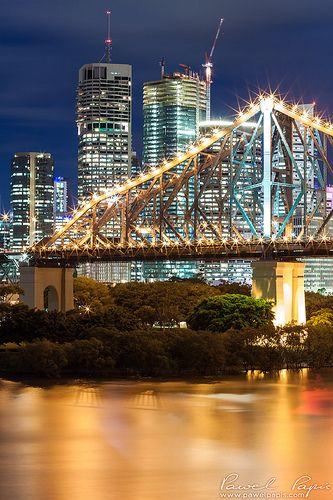 Story Bridge over Brisbane River ~ Queensland, Australia