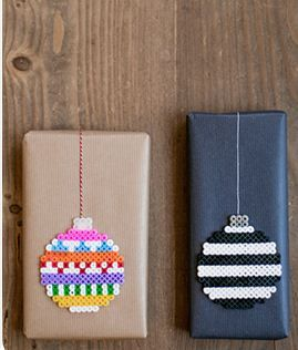 Plastic iron ornament tags