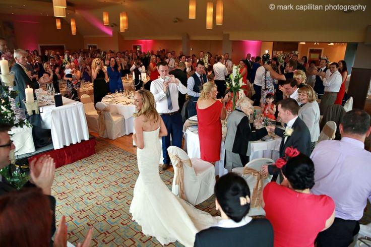 Bride & groom entrance into reception Castle Dargan Ireland wedding photographer Sligo