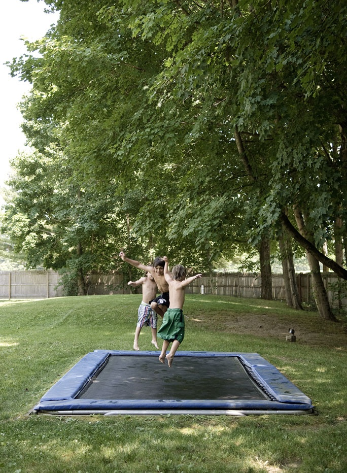 How can i talk my dad into a trampoline?