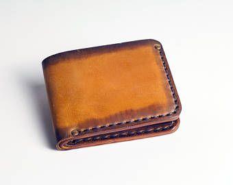 Cartera cuero Billetera para hombre cartera cuero monedero monedero para hombre de cuero cartera minimalista carpeta carpeta de tarjeta de cuero Custom monedero regalo