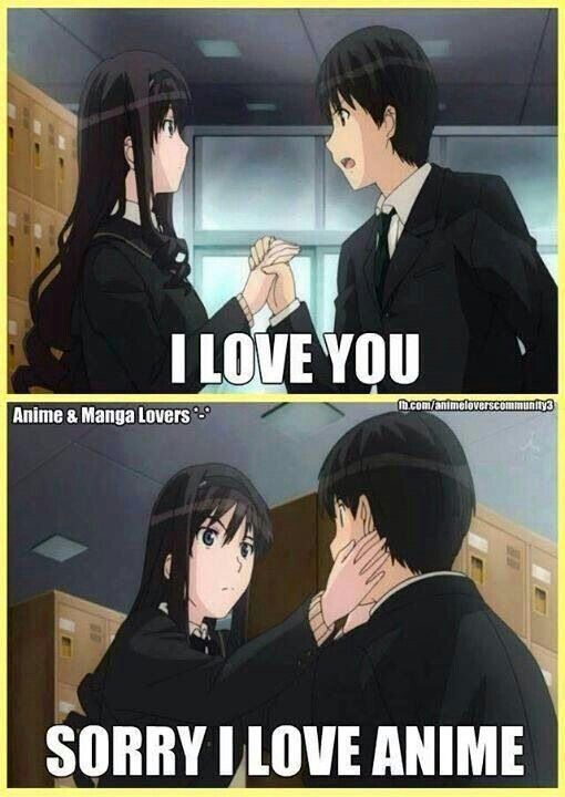Anime: otaku girl dating otaku boy