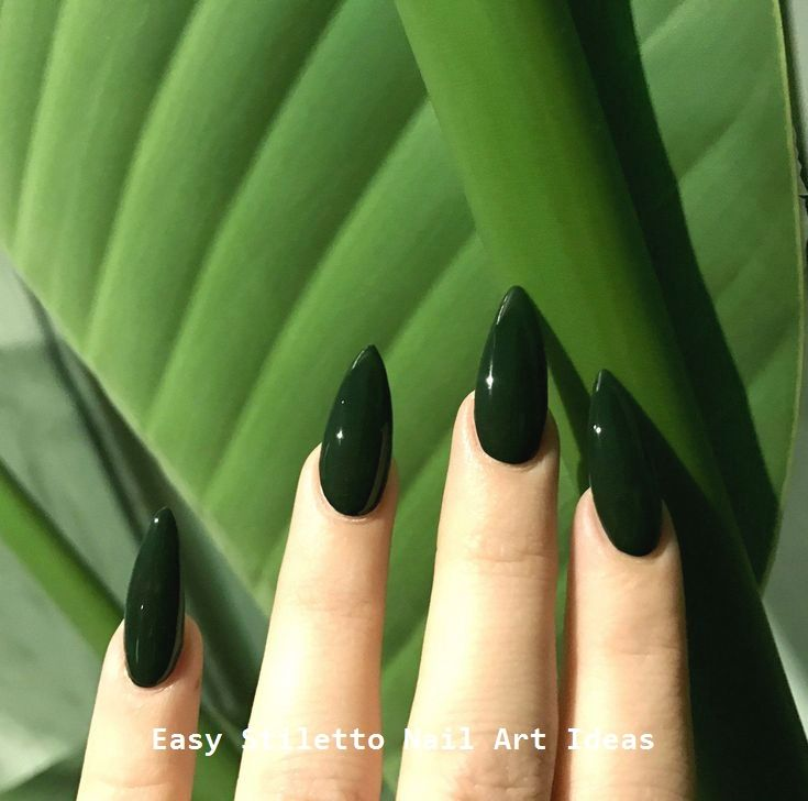 30 Great Stiletto Nail Art Design Ideas