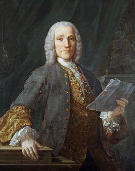 Retrato de Domenico Scarlatti.Джузе́ппе Доме́нико Скарла́тти (ит.Giuseppe Domenico Scarlatti;26.10.1685,Неаполь-23. 07.1757,Мадрид) итал.композитор и клавесинист;провел бо́льшую часть св. жизни в Испании и Португалии.Его сочинител.стиль оказал бол.влияние на музыку эпохи классицизма,хотя сам он жил в эпоху барокко.В 1720 или 1721г. приезж.в Лиссабон,где дает уроки музыки принцессе Марии Магдалене Барбаре,будущ. королеве Испании.