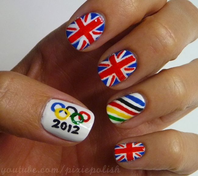 Didn't do the others, just the Olympic rings. The nail salon loved the idea and had one of the employees wanting to get it too