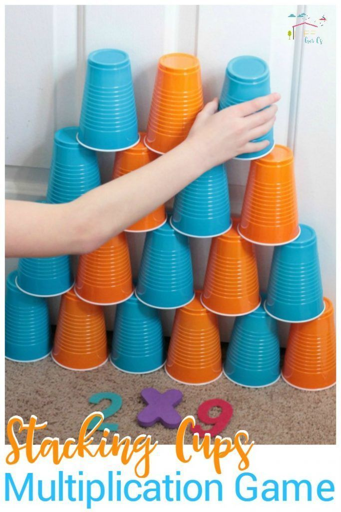 If you need inspiration for hands-on math, this stacking cups multiplication game for kids is a hit! 3-5th graders will love this learning game!