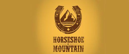 Horse ranch mountain logo design collection