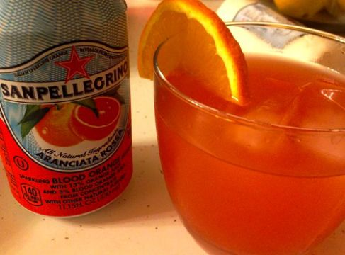 "These cocktails scream ""sparkling summer."" Makes 1 1 oz vodka 1/2 oz triple sec (or Cointreau) 1/2 can San Pellegrino Aranciata Rossa (or whatever kind of blood orange soda you can get …"