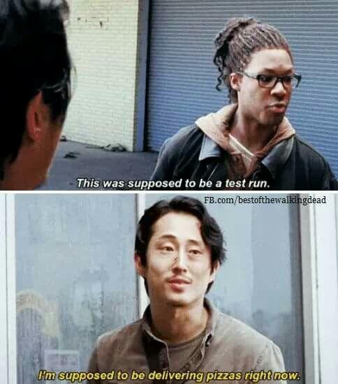 "The Walking Dead Season 6 Episode 1 ""First Time Again"" Glenn Rhee and Heath"