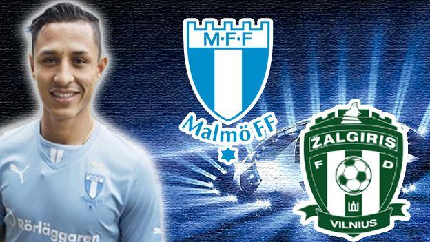 Con Yoshimar Yotun, Malmö vs. Zalgiris EN VIVO por Champions League. July 14, 2015.