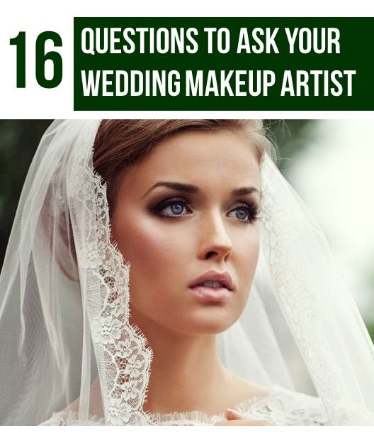 16 Questions to Ask Your Wedding Makeup Artist #happyplanningwedplanner