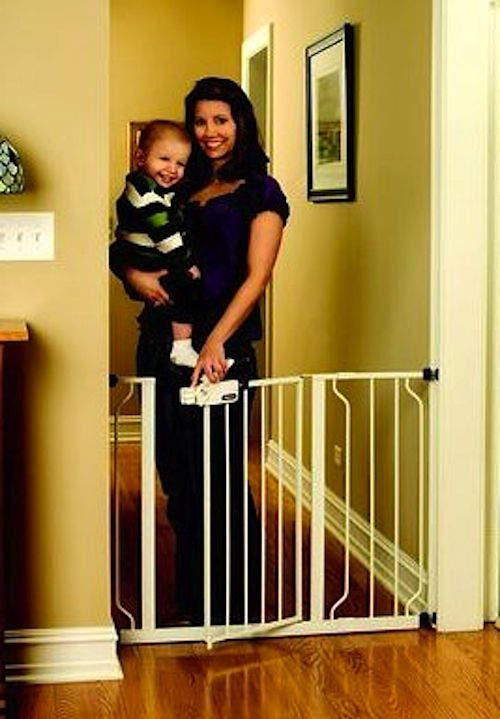 Baby Gate Walk Thru Pressure Mounted Toddler Child Kids Pet Proof Home Safety  #Regalo