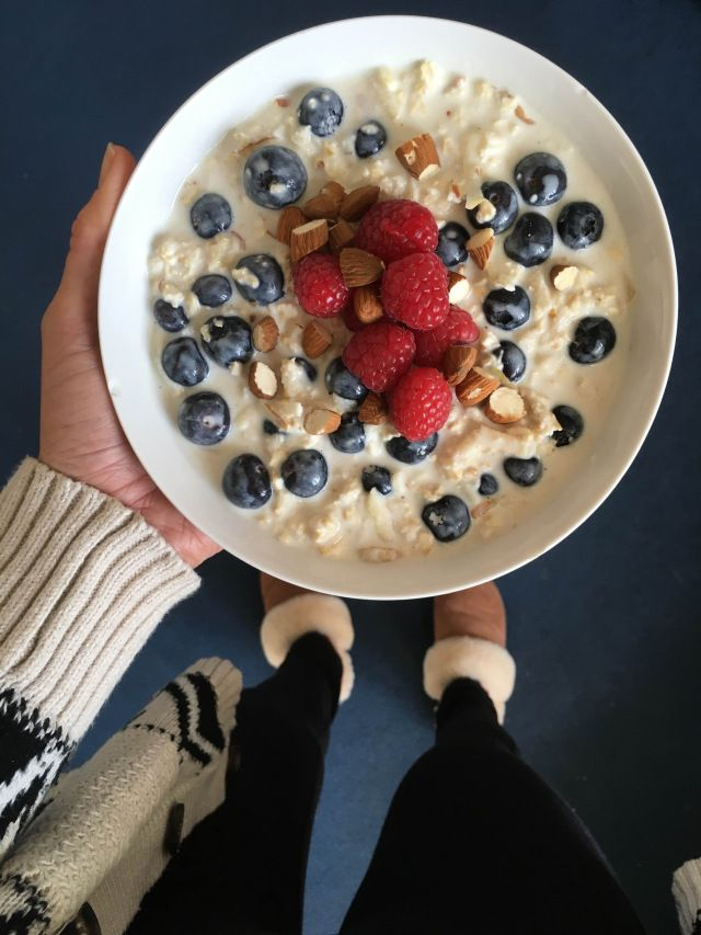 A healthy and refreshing start to the morning - Bircher Muesli recipe here x