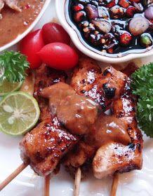 Resep Aneka Ayam: Resep Sate Ayam Kampung Sambal Mete